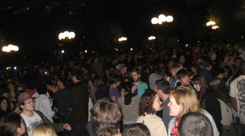 Union square park, election night