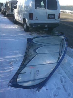 Windsurfing-snow-sail