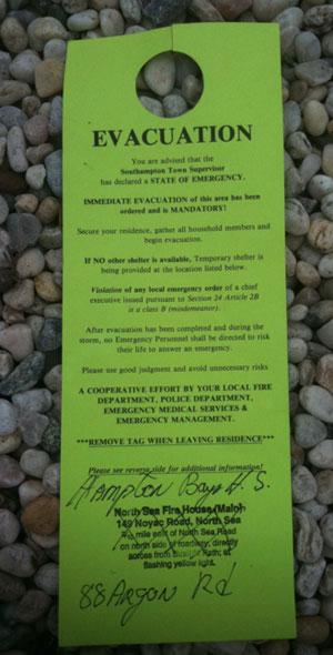 Evacuation-notice