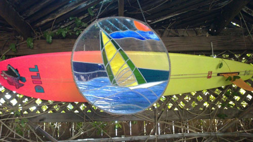 Stained-glass-windsurfer