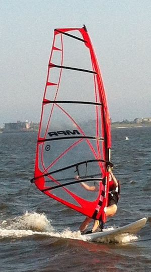 Eileen windsurfing Mecox