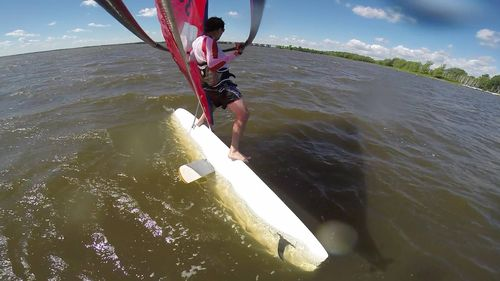 Freestyle windsurfing