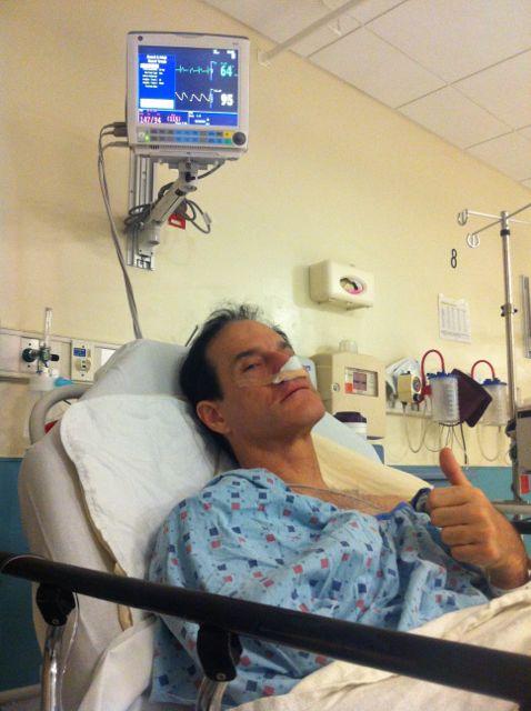 Michael in hospital