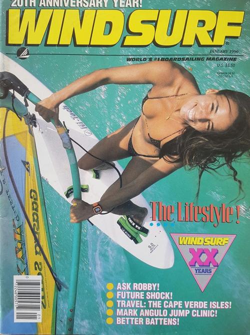 Windsurfing babe