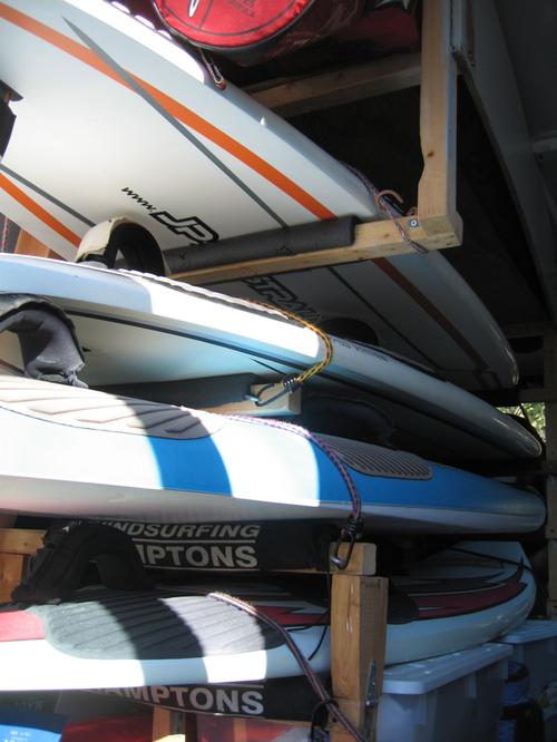 Rear rack spacing detail
